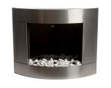 Diamond I SS Wall Mounted Ethanol Fireplace with Safety Glass