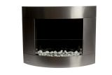 Diamond II SS Wall Mounted Ethanol Fireplace with Safety Glass