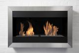 Square Large I Stainless Steel Wall Mounted Ethanol Fireplace