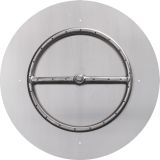 """NG 12"""" Round Stainless Steel Flat-pan with 6"""" Single Ring Burner"""