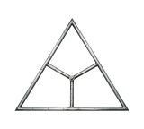"""NG 12"""" Triangle Single Burner - Stainless Steel"""