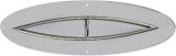 """NG 12"""" x 24"""" Oval SS Flat-pan with 6"""" x 18"""" Fish Eye Burner - Certified"""