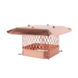 "9 x 18 Draft King Single Flue Copper Chimney Cap - 3/4"" Mesh"