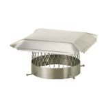 "Draft King SS10U 10"" Round Bolt-On Single Flue Chimney Cap - 3/4"" Mesh"