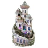 Alpine USA1368 Tower Castle Fountain with LED Lights