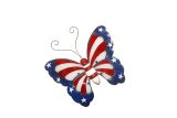 Alpine KAB434 Americana Butterfly Wall Decor