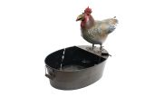 Alpine NCY296 Metal Rooster Fountain
