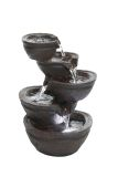 Alpine WIN1138 Tiering Bowls Fountain with White LED Light