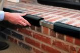 """Metal Backed Hearth Guard for Standard 3-Sided Hearth, 45""""-78"""""""