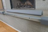 """Metal Backed 24"""" Hearth Guard Mid Extension, Gray"""
