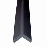 """Metal Backed 24"""" Hearth Guard Mid Extension, Black"""