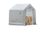 """5' x 3'6"""" x 5' Seasoning Shed; 5.5oz Clear PE Cover"""