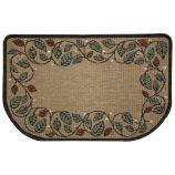 Textured Weave Berry Vine Natural Hearth Rug
