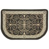 Textured Weave Eastly Scroll Hearth Rug