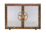 Ornamental Designs Lone Star Fireplace Screen - Bronze