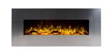 """Touchstone 80026 Onyx Stainless Wall Mounted Electric Fireplace - 50"""""""