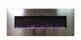 """Touchstone 80024 AudioFlare Stainless Recessed Electric Fireplace, 50"""""""