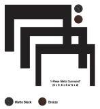 Empire DS2663BL Black 3-Sided/1-Piece Metal Surround for Medium Insert