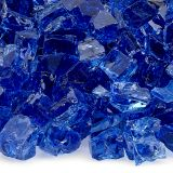 "AFG AFF-COBL12-10 Cobalt Blue 10 lbs. Fire Glass - 1/2"""