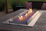 """Empire OL60TP18 Outdoor Linear 60"""" SS Fire Pit with LED Lighting - LP"""