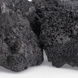 "American Fire Glass LAVA-XXL-10 Black 10 lbs. Lava Rock - 4"" to 6"""