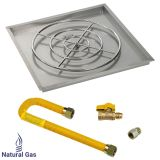 "AFG 36"" High-Capacity Square SS Drop-In Pan w/Match Light Kit - NG"