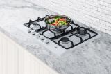 Summit GC5271W 5-Burner Gas Cooktop in White Finish