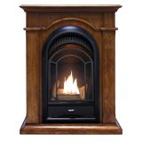 ProCom PCS150T Ventless Fireplace System with Walnut Mantel