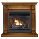 ProCom FBNSD400RT-A-AS Ventless Fireplace System with Straight Mantel