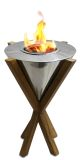 Anywhere Fireplace 90232 Southampton Teak Table Top Fireplace
