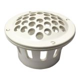 White Roof Vent Guard (Keeps Debris, Animals, Etc. Out Of Vent)
