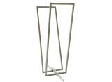 Curonian LRPlainS Transparent Log Rack in Silver