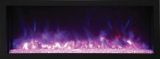 "Panorama Series 60"" Deep Built-In Electric Fireplace w/ Surround"