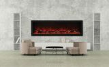 "Panorama Series 72"" Deep Built-In Electric Fireplace w/ Surround"