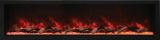 "Panorama Series 88"" Deep Built-In Electric Fireplace w/ Surround"