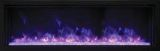 "Panorama Series 50"" Extra Slim Built-In Electric Fireplace w/ Surround"