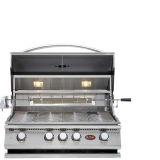 Cal Flame Built-In P Series 4 Burner Gas BBQ Grill w/ Back Burner - LP