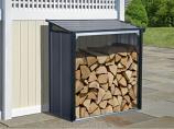 Arrow Firewood Rack 4 x 2 ft. Anthracite