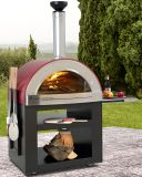 Forno Venetzia Torino 300 Oven with cart in Red