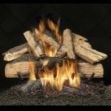 "24"" Elegant Charred Split Oak See Thru Gas Logs with Safety Pilot - LP"