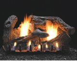 "24"" Super Sassafras Gas Logs with Millivolt Control - LP"
