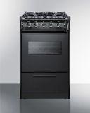 "20"" Black Wide SlideIn Gas Range w/Sealed Burners & Oven Window"