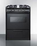 "24"" Black Wide SlideIn Gas Range w/Sealed Burners & Oven Window"