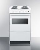 """20"""" Wide Slide-In Style Coil-Top Electric Range and Oven Window"""