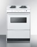 """24"""" Wide Slide-in Style Coil-top Electric Range and Oven Window"""