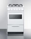 "20"" White Wide SlideIn Gas Range w/Sealed Burners & Oven Window"