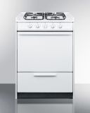 """24"""" Wide Slide-in Gas Range in White with Sealed Burners"""