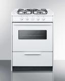 "24"" White Wide SlideIn Gas Range w/Sealed Burners & Oven Window"