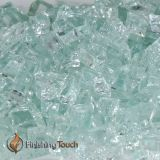 "1/2"" Icy Mint Metallic Fireglass - 8 Lbs. Container"