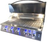 "RCS Gas Grills 40"" Premier Grill with Blue LED and Rear Burner - NG"